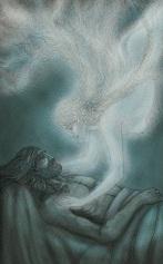 """Ilustración para el poemario """"Circe"""" (IV Premio de Poesía Antonio Gala, Ediciones Alhulia)."""