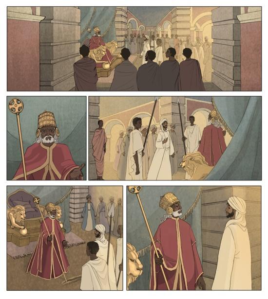 Página de cómic (Ediciones Akal).